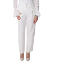 Abbigliamento Donna Chino Fracomina FR20SP164 Bianco