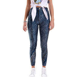 Abbigliamento Donna Leggings Versace A1HVB009S0684904 Blu