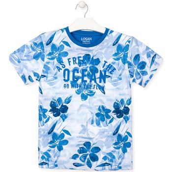 Abbigliamento Bambino T-shirt maniche corte Losan 013-1003AL Blu