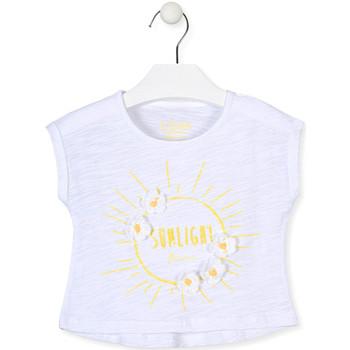 Abbigliamento Bambina T-shirt maniche corte Losan 016-1006AL Bianco
