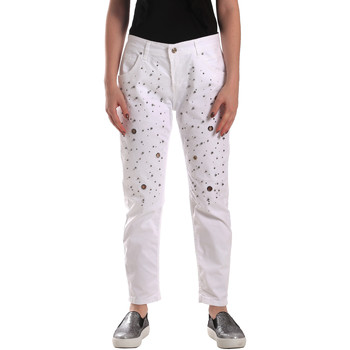 Abbigliamento Donna Jeans Y Not? 18PEY097 Bianco