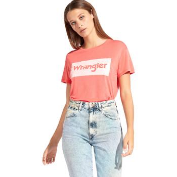 Abbigliamento Donna T-shirt maniche corte Wrangler W7016D Rosso