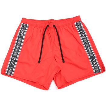 Abbigliamento Uomo Costume / Bermuda da spiaggia Ea7 Emporio Armani 902000 0P734 Rosso