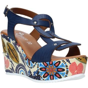 Scarpe Donna Sandali Grace Shoes 09 Blu