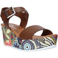 Scarpe Donna Sandali Grace Shoes 07 Marrone