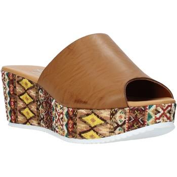 Scarpe Donna Ciabatte Grace Shoes 10 Marrone