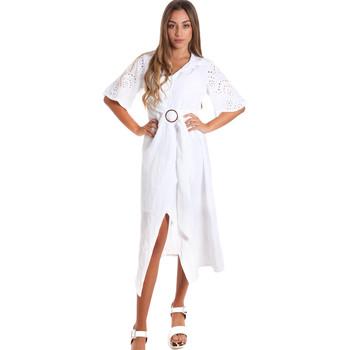 Abbigliamento Donna Abiti lunghi Fracomina FR20SM561 Bianco