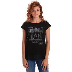 Abbigliamento Donna T-shirt maniche corte Key Up 5Z10S 0001 Nero