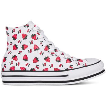 Scarpe Bambina Sneakers alte Converse 668016C Bianco