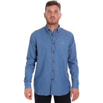 Abbigliamento Uomo Camicie maniche lunghe Les Copains 9U2361 Blu