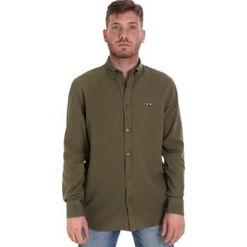 Abbigliamento Uomo Camicie maniche lunghe Les Copains 9U2371 Verde