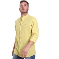 Abbigliamento Uomo Camicie maniche lunghe Les Copains 9U2722 Verde