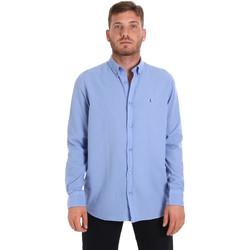 Abbigliamento Uomo Camicie maniche lunghe Les Copains 9U2371 Blu