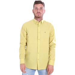 Abbigliamento Uomo Camicie maniche lunghe Les Copains 9U2371 Giallo
