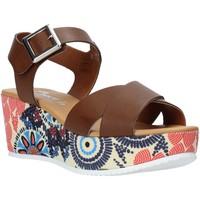 Scarpe Donna Sandali Grace Shoes 12 Marrone