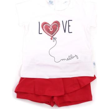 Abbigliamento Bambina Completo Melby 20L7001 Rosso