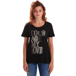 Abbigliamento Donna T-shirt maniche corte Key Up 5Z19S 0001 Nero