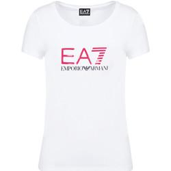 Abbigliamento Donna T-shirt maniche corte Ea7 Emporio Armani 8NTT63 TJ12Z Bianco