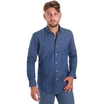 Abbigliamento Uomo Camicie maniche lunghe Betwoin DENIM78 6635535 Blu