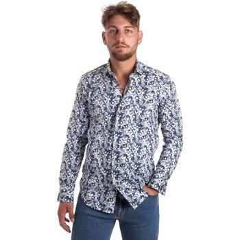 Abbigliamento Uomo Camicie maniche lunghe Betwoin SELZ 6635535 Blu