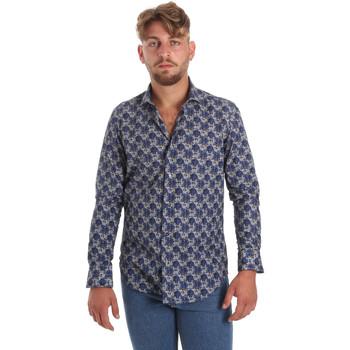 Abbigliamento Uomo Camicie maniche lunghe Betwoin DB111 Blu