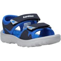 Scarpe Unisex bambino Sandali Lotto L55098 Blu