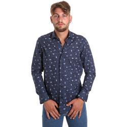 Abbigliamento Uomo Camicie maniche lunghe Betwoin D092 6635535 Blu