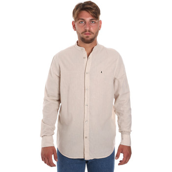Abbigliamento Uomo Camicie maniche lunghe Les Copains 9U2722 Beige