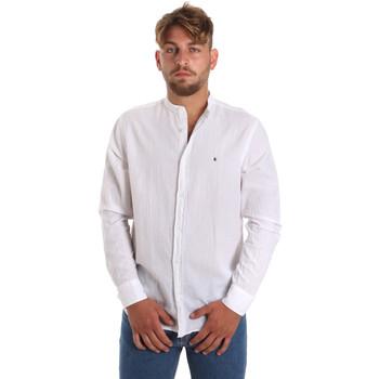 Abbigliamento Uomo Camicie maniche lunghe Les Copains 9U2722 Bianco
