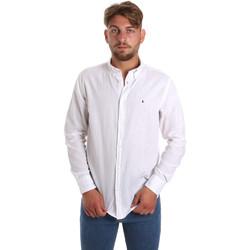 Abbigliamento Uomo Camicie maniche lunghe Les Copains 9U2371 Bianco