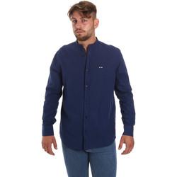 Abbigliamento Uomo Camicie maniche lunghe Les Copains 9U2722 Blu