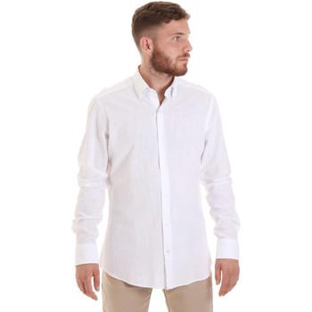 Abbigliamento Uomo Camicie maniche lunghe Les Copains 20P.689 P700SL Bianco