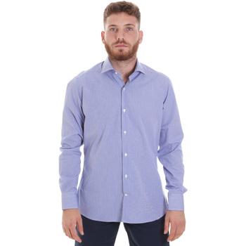 Abbigliamento Uomo Camicie maniche lunghe Les Copains 20P.621 P3196SL Blu