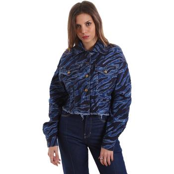 Abbigliamento Donna Giacche in jeans Versace C0HVB939AQC5Q904 Blu