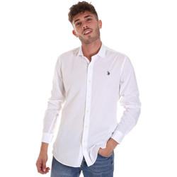 Abbigliamento Uomo Camicie maniche lunghe U.S Polo Assn. 58835 50655 Bianco