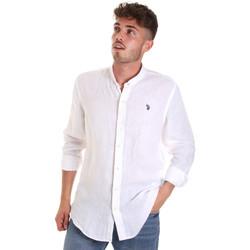 Abbigliamento Uomo Camicie maniche lunghe U.S Polo Assn. 58667 50816 Bianco