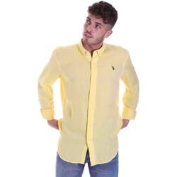 Abbigliamento Uomo Camicie maniche lunghe U.S Polo Assn. 58574 50816 Giallo