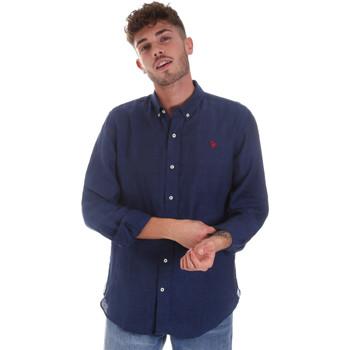 Abbigliamento Uomo Camicie maniche lunghe U.S Polo Assn. 58574 50816 Blu