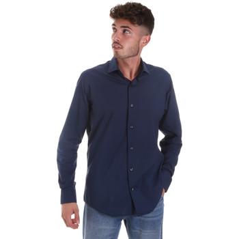 Abbigliamento Uomo Camicie maniche lunghe Les Copains 18P.884 P3196SL Blu