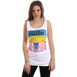 Abbigliamento Donna Top / T-shirt senza maniche Versace D2HVB4V030384003 Bianco