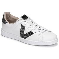 Scarpe Donna Sneakers basse Victoria TENIS PIEL GLITTER Bianco / Nero