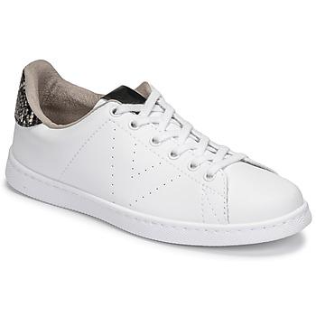 Scarpe Donna Sneakers basse Victoria TENIS VEGANA SERPIENTE Bianco / Nero