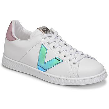 Scarpe Donna Sneakers basse Victoria TENIS VEGANA VINI Bianco / Blu / Rosa