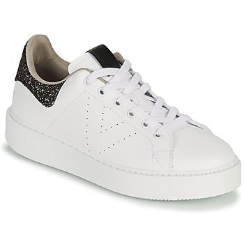 Scarpe Donna Sneakers basse Victoria UTOPIA GLITTER Bianco / Marrone