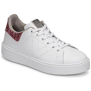 Scarpe Donna Sneakers basse Victoria UTOPIA GLITTER Bianco / Rosa