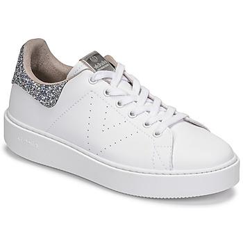 Scarpe Donna Sneakers basse Victoria UTOPIA GLITTER Bianco / Argento