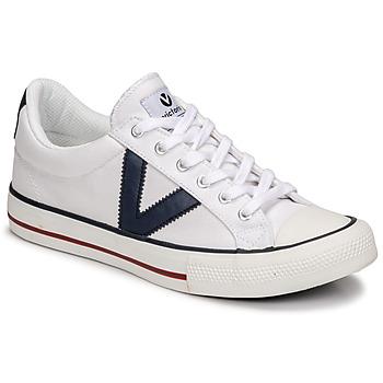 Scarpe Sneakers basse Victoria TRIBU LONA CONTRASTE Bianco / Blu