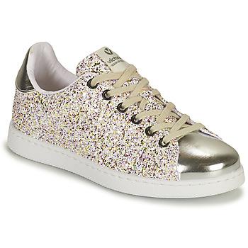 Scarpe Bambina Sneakers basse Victoria TENIS GLITTER Argento