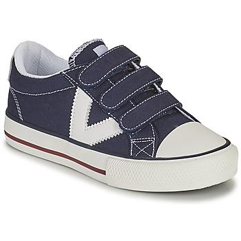 Scarpe Bambino Sneakers basse Victoria TRIBU TIRAS LONA Blu