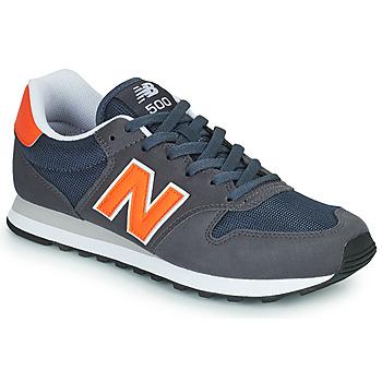 Scarpe Uomo Sneakers basse New Balance 500 Blu / Arancio